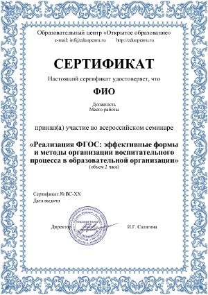 Сертификат участника конкурса бланк скачать